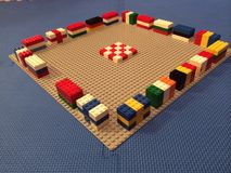 Παγκόσμιο Κύπελλο 2014 Lego Στοκ Φωτογραφία