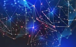 Παγκόσμιο νευρικό δίκτυο Τεχνολογία επικοινωνιών του μέλλοντος Μεγάλη έννοια στοιχείων στοκ εικόνα