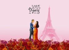 Παγκόσμιο ορόσημο Παρίσι Γαλλία έργων ζωγραφικής στοκ φωτογραφίες