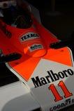 Παγκόσμιο πρωτάθλημα που κερδίζει McLaren M23 του James Κυνήγι Στοκ Εικόνες