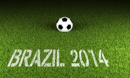 Παγκόσμιο πρωτάθλημα 2014 ποδοσφαίρου Στοκ εικόνα με δικαίωμα ελεύθερης χρήσης