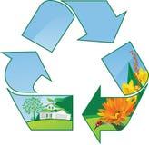 Παγκόσμιο eco ανακύκλωσης Στοκ φωτογραφία με δικαίωμα ελεύθερης χρήσης