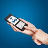 Παγκόσμιο 5G δίκτυο Στοκ εικόνα με δικαίωμα ελεύθερης χρήσης