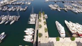 Παγκόσμιο ` s καλύτερο ναυτικό για τις έξοχες βάρκες γιοτ Πόρτο Μαυροβούνιο σε Tivat φιλμ μικρού μήκους
