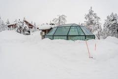 Παγοκαλύβα γυαλιού στο Lapland κοντά στη Sirkka, Φινλανδία στοκ εικόνες με δικαίωμα ελεύθερης χρήσης