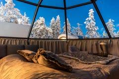 Παγοκαλύβα γυαλιού στο Lapland κοντά στη Sirkka, Φινλανδία στοκ εικόνες