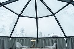 Παγοκαλύβα γυαλιού στο Lapland κοντά στη Sirkka, Φινλανδία στοκ φωτογραφία με δικαίωμα ελεύθερης χρήσης