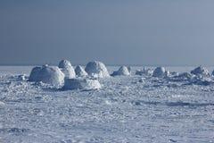 παγοκαλύβα Χωριό Εσκιμώων Στοκ φωτογραφίες με δικαίωμα ελεύθερης χρήσης