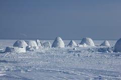 παγοκαλύβα Χωριό Εσκιμώων Στοκ εικόνα με δικαίωμα ελεύθερης χρήσης