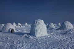παγοκαλύβα Χωριό Εσκιμώων Στοκ Φωτογραφίες