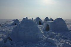 παγοκαλύβα Χωριό Εσκιμώων Στοκ Εικόνα