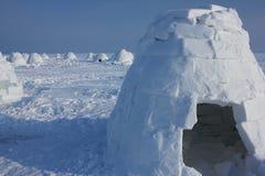 παγοκαλύβα Χωριό Εσκιμώων Στοκ Φωτογραφία