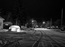 Παγοκαλύβα τη νύχτα Στοκ Εικόνες
