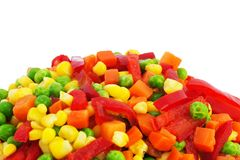 παγωμένα λαχανικά Στοκ Φωτογραφίες