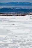 παγωμένα βουνά λιμνών tatry στοκ εικόνα