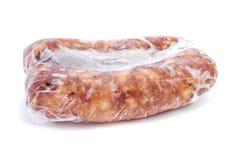 Παγωμένα καρυκευμένα λουκάνικα κρέατος χοιρινού κρέατος Στοκ εικόνες με δικαίωμα ελεύθερης χρήσης