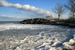 παγωμένα κύματα τοπίων Στοκ Φωτογραφίες