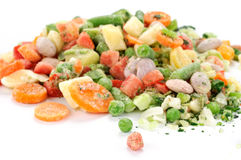 παγωμένα λαχανικά σούπας στοκ φωτογραφία
