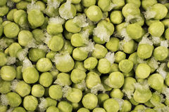 παγωμένα πράσινα μπιζέλια Στοκ Εικόνες