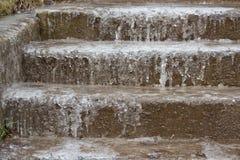 Παγωμένα σκαλοπάτια Στοκ φωτογραφίες με δικαίωμα ελεύθερης χρήσης