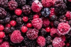 Παγωμένα φρούτα θερινών δασικά άγρια μούρων, πλήρες υπόβαθρο πλαισίων Στοκ φωτογραφίες με δικαίωμα ελεύθερης χρήσης