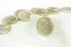 παγωμένα χρήματα Στοκ φωτογραφία με δικαίωμα ελεύθερης χρήσης