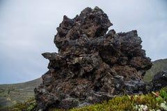 Παγωμένες ηφαιστειακές χιλιάδες πετρών λάβας έτη μετά από την έκρηξη Στοκ εικόνες με δικαίωμα ελεύθερης χρήσης