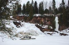 Παγωμένες πτώσεις Στοκ Φωτογραφίες