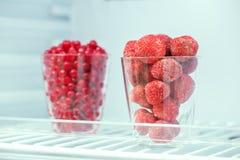 Παγωμένες φράουλες και κόκκινες σταφίδες Στοκ Φωτογραφία