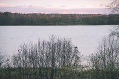 παγωμένη άποψη παραλιών από τη θάλασσα της Βαλτικής - εκλεκτής ποιότητας επίδραση ταινιών Στοκ φωτογραφία με δικαίωμα ελεύθερης χρήσης