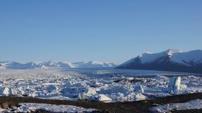 Παγωμένη λίμνη παγετώνων Jokulsarlon Στοκ Φωτογραφία