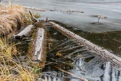 παγωμένη λίμνη Στοκ φωτογραφίες με δικαίωμα ελεύθερης χρήσης