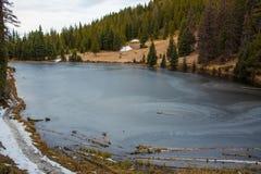 παγωμένη λίμνη Στοκ εικόνες με δικαίωμα ελεύθερης χρήσης