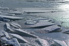 Παγωμένη λίμνη Balaton στην Ουγγαρία Στοκ Φωτογραφίες