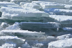 Παγωμένη λίμνη Balaton στην Ουγγαρία Στοκ εικόνες με δικαίωμα ελεύθερης χρήσης