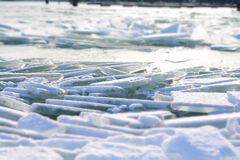 Παγωμένη λίμνη Balaton στην Ουγγαρία Στοκ φωτογραφία με δικαίωμα ελεύθερης χρήσης