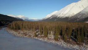 Παγωμένη αγριότητα στην Αλάσκα απόθεμα βίντεο
