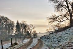 παγωμένη αγρόκτημα διαδρομή ανατολής Στοκ φωτογραφίες με δικαίωμα ελεύθερης χρήσης