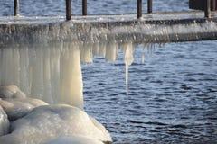 Παγωμένη, παγωμένη ακτή 12 της θάλασσας της Βαλτικής Στοκ Εικόνα
