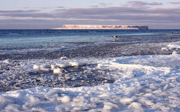 παγωμένη ακτή Στοκ εικόνα με δικαίωμα ελεύθερης χρήσης