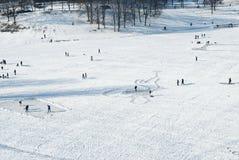 παγωμένη αναψυχή λιμνών Στοκ Εικόνες