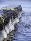Παγωμένη γέφυρα για πεζούς Στοκ Φωτογραφίες