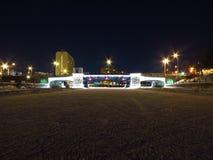 Παγωμένη γέφυρα καναλιών Στοκ φωτογραφίες με δικαίωμα ελεύθερης χρήσης