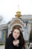 παγωμένη γυναίκα Στοκ Εικόνες