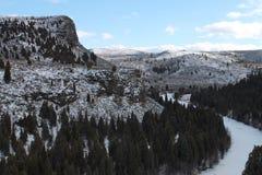 Παγωμένη κοιλάδα στοκ εικόνα