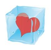 παγωμένη κύβος καρδιά που Στοκ εικόνα με δικαίωμα ελεύθερης χρήσης