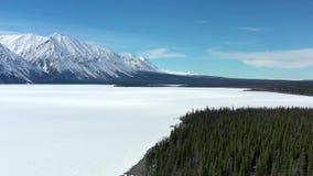 Παγωμένη λίμνη της Kathleen απόθεμα βίντεο