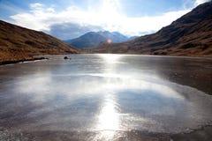 παγωμένη λίμνη Στοκ Φωτογραφία