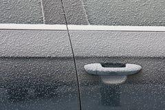 Παγωμένη πόρτα αυτοκινήτων Στοκ Φωτογραφίες