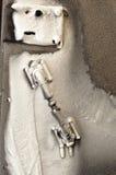Παγωμένη πόρτα μετάλλων. Στοκ Εικόνες